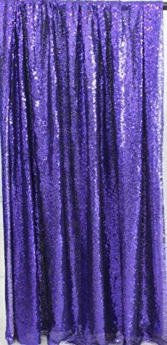 Lila Gaze (Kate 4x7ft /1.25x2.2m lila Pailletten Gaze persönliche Video-Hintergrund Foto-Flash-Foto-Stand Dekoration dunklen Club sammelt Retro glänzenden Hintergrund)