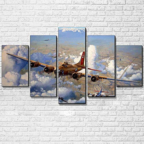 Tela HD Stampa Poster Home Decor Lavoro 5 Pezzi Vintage Air Plane s per Living Room Wall Art Jet Aircraft Immagini