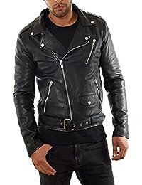 De cuero biker chaqueta de Serge Pariente Basculante Negro
