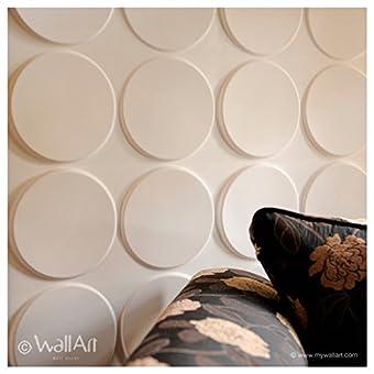 Wall Decor–Paneles 3d Wallart Ellipses Dal design moderno Ed accattivante unidades (Box de m².3