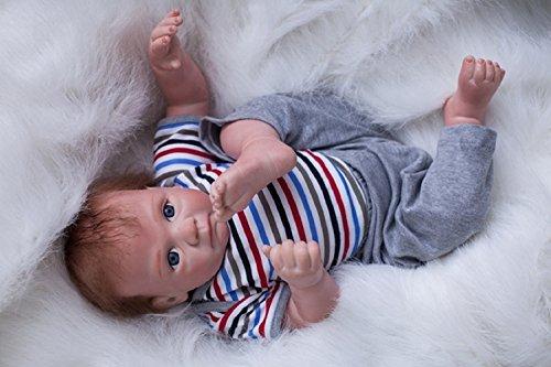 HOOMAI 20inch 50CM muñeca Reborn bebé Silicona niño Reales Toddler Baby Doll Boy Magnetismo Juguetes