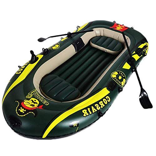 L&WB Kayak Gonfiabile Peschereccio Resistente all'Usura Spesso Canoa da Viaggio Veloce, 3...