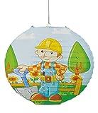 Unbekannt Papier Laterne / Lampenschirm - Bob der Baumeister für Kinder - Papierlaterne Laternen Lampion Lampions - Baustelle Kinderzimmer für Jungen Bagger