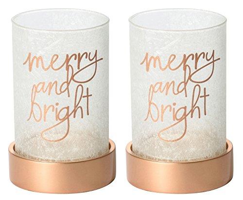 2x ufficiale Yankee Candle magical Christmas grande supporto decorazione ornamento vaso in vetro smerigliato natalizio maniche
