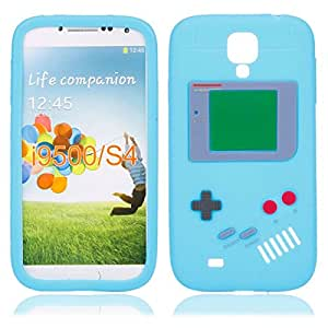 Game Cute Silicone Case for Samsung SIV S4 I9500 Light Blue
