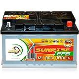 Verbraucherbatterie EFB 12 V 90 Ah Photovoltaik Boot Versorgungs Batterie