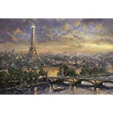 Schmidt Spiele Puzzle 59470 Puzzle 1.000 Teile, Thomas Kinkade, Paris, Stadt der Liebe