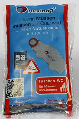 roadbag® - Das mobile Einweg-WC für Männer 5er Set