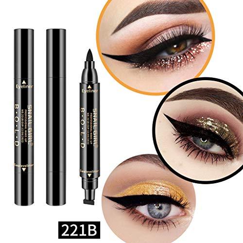 Eyeliner Waterproof, Eyeliner Noir, Eyeliner, Winged Eyeliner Stamp, Liquid Eyeliner, Yeux Liner, Maquillage Imperméable Cosmétiques Eye Liner Crayon Liquide Noir (B)