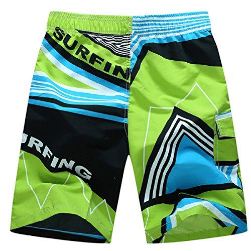 Des Hommes Quick Dry été Timbre Plage Détendu Décontracté Le Surf Plus-Size Swim Trunk Tailles Et Couleurs Assorties C