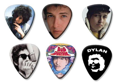 Bob Dylan Set of 6 Loose Gitarre Plektrum Plektron Picks ( Collection E ) (Bob Dylan-gitarre Picks)