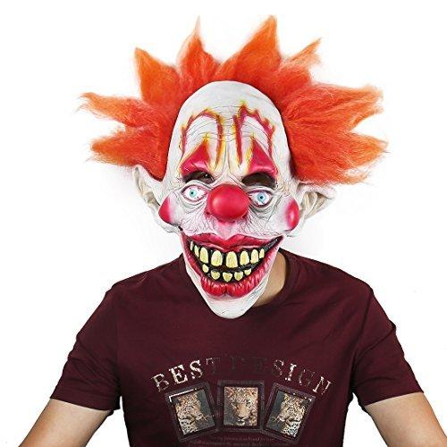 Dora Kostüm Mann - hyalinität & Dora Latex Funny Clown Maske für Erwachsene, Halloween-Kostüm Party Masken clown-mask