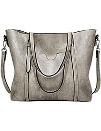 51cd6fb2c3576 PB-SOAR Damen Elegant Shopper Schultertasche Umhängetasche Ledertasche  Handtasche Henkeltasche 30x26x12cm (B x H