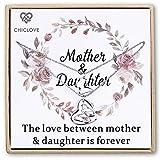 Chiclove Mutter und Tochter Collier-Set - Gold Mama und ich Set - Mama und Tochter Schmuck