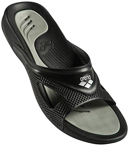 Arena hydrofit man hook - scarpe da spiaggia e piscina uomo, nero (black/black 050), 46 eu