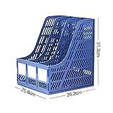 LQQFF Bürobedarf, Datei Halter Quad-Datei-Box Speicher-Daten-Halter Desktop-Datei-Manager (Farbe : Blue, Größe : 252.5 * 322 * 274.5MM)