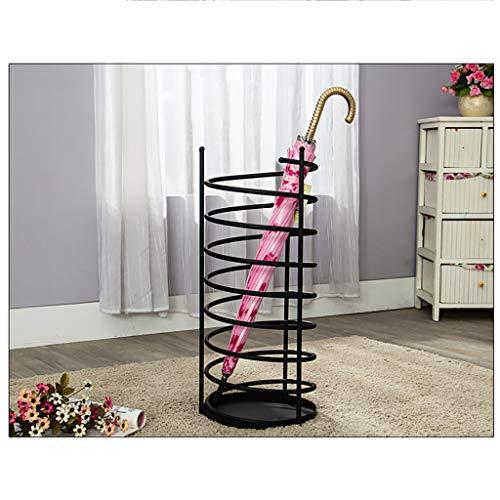 Stockage debout Porte-parapluie en fer forgé porte-parapluie ménage porte-parapluie (Couleur : NOIR)