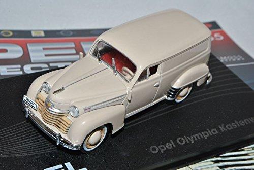 Opel-Olympia-Kastenwagen-Transporter-Creme-Beige-1950-1953-Inkl-Zeitschrift-Nr-65-143-Ixo-Modell-Auto-mit-oder-ohne-individiuellem-Wunschkennzeichen