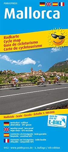 Mallorca: Radkarte mit Tourenvorschlägen, wetterfest, reissfest, abwischbar, GPS-genau. 1:100000 (Radkarte / RK)