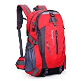 Sound Vision 35L Outdoor Sport Lightweight Daypack Backpack Rucksuck for Mountain Climbing Hiking Camping Travel Casual School Bag Red - Sound Vision - amazon.co.uk