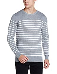 Gas Mens Cotton Cardigan (916261902_Grey_Small)