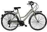 F.lli Schiano CTB Trekking Nisida Bicicleta, Mujer, Marfil, 28'