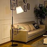 CRR Stehlampe, Wohnzimmer Sofa Licht Schlafzimmer Nachttischlampe Couchtisch Lampe E27 220V (Farbe : LED Warm Light 8W)