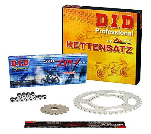 Kettensatz / Kettenkit Aprilia RS 125 Tuono, 2003-2004, Typ SF, DID X-Ring (ZVM-X chrom) super verstärkt