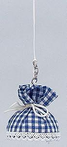 Kahlert Licht 0105406 - Lámpara de Techo para casa de muñecas, diseño de Cuadros, Color Blanco y Azul