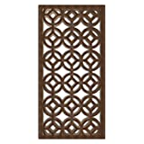 NISH! MDF Jali | Geometric Design | Can be used as Room Partitions, Screens, Dividers, Jali, Wall Art, Hanging, Décor, Doors (MDF Wood - 12mm thick, 3ft x 6ft, Natural Color, 1 Piece) for Living Room, Drawing Room, Kitchen Cabinet, Cupboards, Furniture
