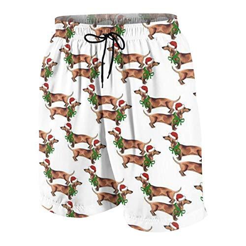 Pillow Socks Christmas Dachshunds Boys Beach Shorts Quick Dry Beach Swim Trunks Kids Swimsuit Beach Shorts,Swimming Trunks for Men S