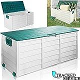 Große Outdoor-Garten-Aufbewahrungsbox aus Kunststoff, Schuppen-Box, Gartenzubehör, 290Liter