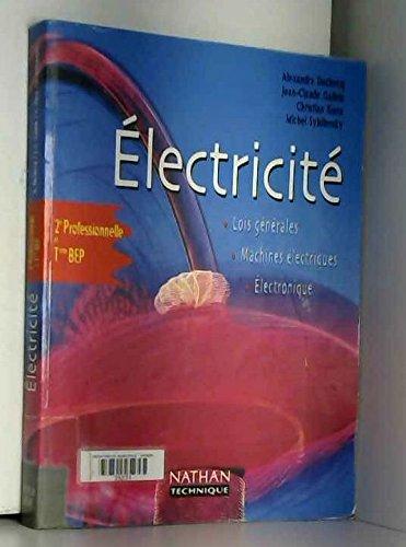 Electricité, seconde - terminale BEP, élève, 2000