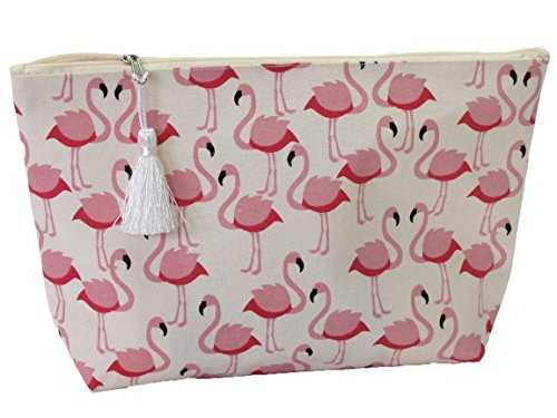 Bada Bing Kosmetiktasche Kulturtasche Schminktasche Flamingo Allover Trend