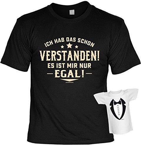 Fun T-Shirt Ich hab das schon verstanden Shirt 4 Heroes geil bedruckt Geschenk Set mit Mini Flaschenshirt Schwarz