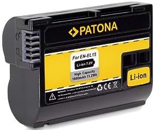 """Bundlestar * Qualitätsakku für Nikon EN-EL15 - Intelligentes Akkusystem mit Chip - """"neueste Generation"""" für -- Nikon D7000 D7100 D600 D610 D800 D810 Nikon 1 V1"""