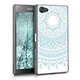 kwmobile Sony Xperia Z5 Compact Hülle - Handyhülle für Sony Xperia Z5 Compact - Handy Case in Hellblau Weiß