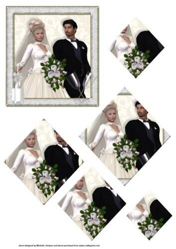 bride groom & pyramage Johnson diamond by Michelle