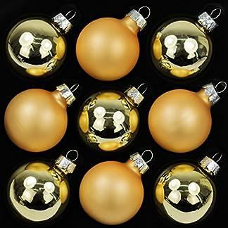 9er-Set-Weihnachtskugeln-Echtglas-Kugeln-Glaskugeln-Weihnachten-Weihnachtsdeko-Christbaumkugeln–4-cm-Gold-5-x-glnzend-4-x-matt