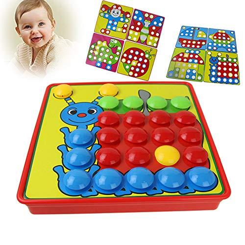 fungo inchiodato giocattolo, Mamum corrispondenza colore mosaico Pegboard set Early Learning giocattoli...