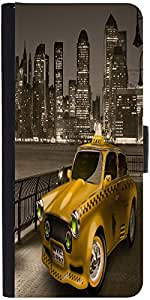Snoogg New York City Cab 2671 Designer Protective Flip Case Cover For Apple I...