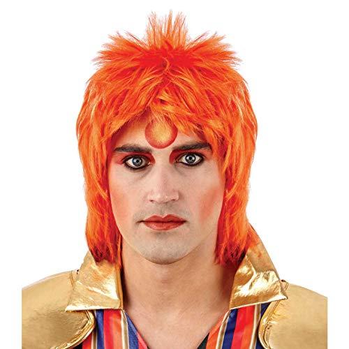 Bowie Kostüm David - Fun Shack Herren Costume Kostüm, Glam Rock Wig Ginger, Einheitsgröße