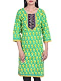 Bleuindus Artificial Mirrors Embroidery Printed Kurti