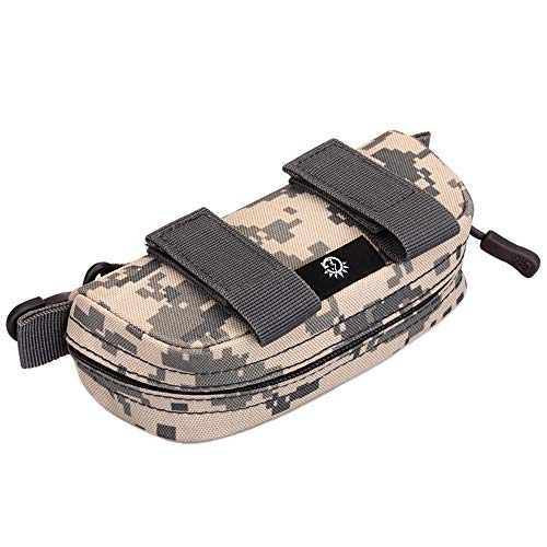 Huenco Tactical Molle Sonnenbrille Fall Tragbare Anti-Shock Clamshell Tragen Brillen Hard Case Outdoor Jagd Goggle Mag Pouch Clamshell Case