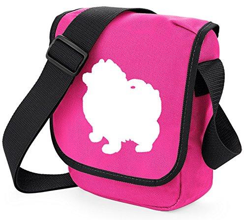Bag Pixie - Borsa a tracolla unisex adulti Pom White on Pink
