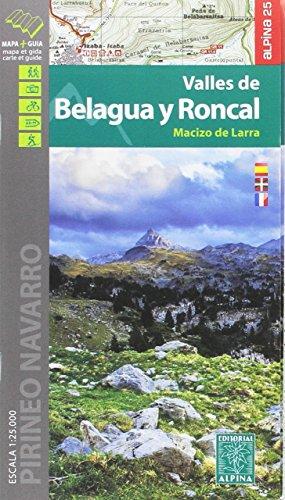Valles de Belagua y Roncal. Macizo de Larra. 1:25.000. Mapa excursionista. Editorial Alpina. (Editorial Alpina Alpina) por VV.AA.