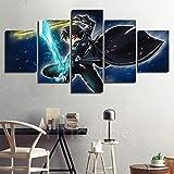 ZEMER Sword Art Online Anime Bilder Leinwanddrucke Malerei 5 Stück Moderne Poster Für Wohnzimmer Wandkunst Dekoration,A,30x40x2+30x60x2+30x80x1
