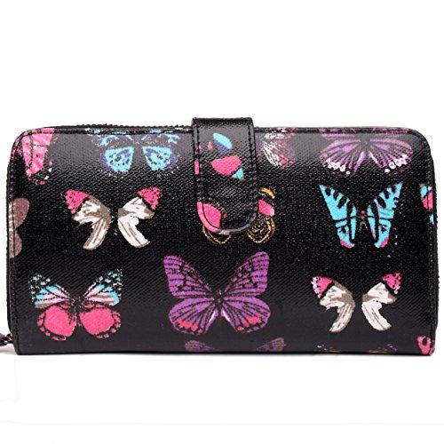 Miss Lulu , Damen Tote-Tasche Butterfly Purse Black