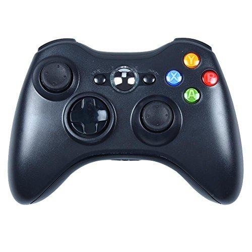 Stoga STB02 Nuevo Mando a Distancia Inalámbrico Del Teclado Microsoft Xbox 360 PC Windows 7 XP Whit Joypad (Negro)