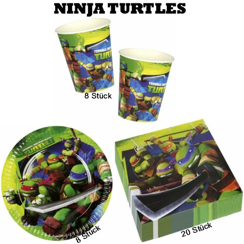 Teenage Mutant Ninja Turtles Partyset Teller + Becher + Servietten